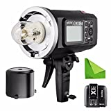 EACHSHOT Godox AD600BM + X1T-N Manual Version HSS 1/8000s 600W GN87 Outdoor Flash Light (Bowens Mount) with Lithium Battery 8700mAh + X1T-N Wireless Trigger For Nikon
