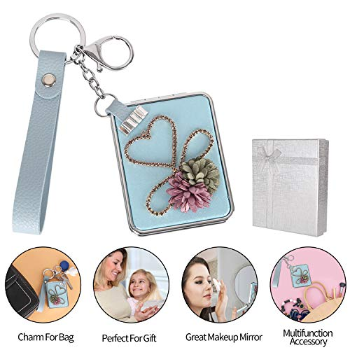 Mirror Key Chains Makeup Mirror Glass for Xmas ...