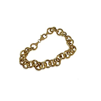 Amazoncom Turkish Fine Gold Bracelet in 14K Yellow Gold Jewelry