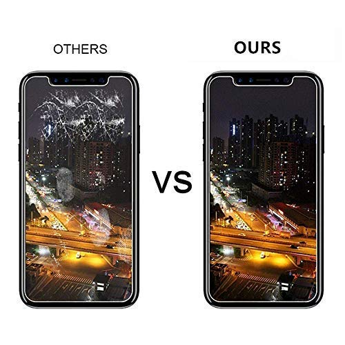 Screen Protector Compatible for iPhone X/Xs, Tempered Glass Screen Protector, 3D Full Frame Curved Edge, 9H Hardness, Easy Installation,Case Friendly Compatible for iPhone X/Xs