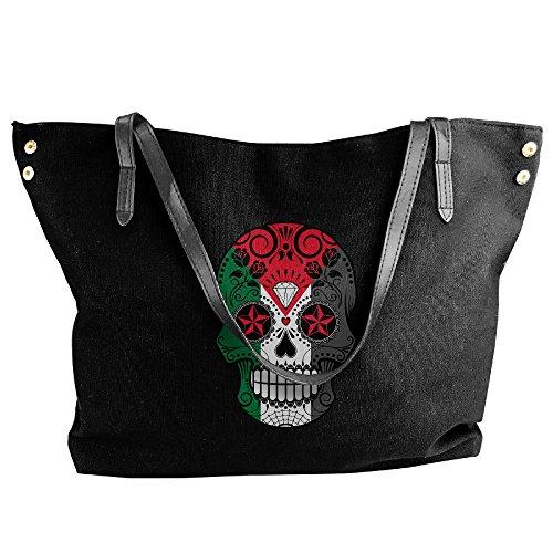 Of Black Women's Roses Tote Shoulder Large Canvas Bag Skull Messenger And With Tote Flag Sugar Handbag Palestine Hobo RPR8Txw