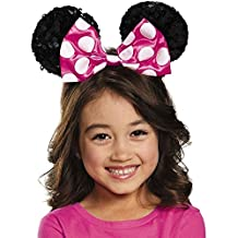 Pink Minnie Mouse Sequin Bow Child Ears Headband