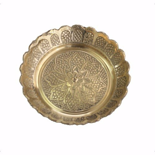 Shubhkart Nakshi Plate (Pack Of 3), Copper Handmade Indian Plate for (Copper Plates)