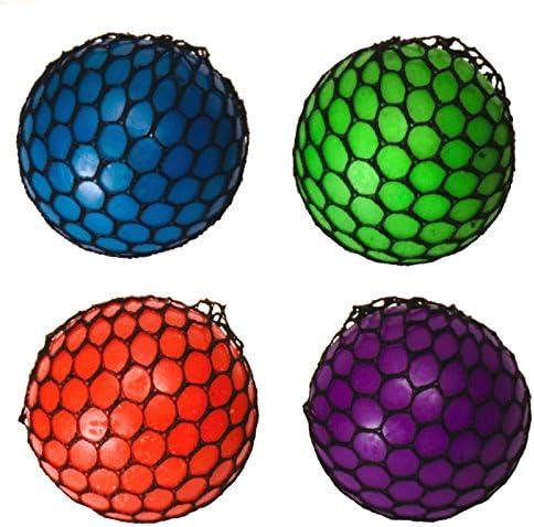 Squeeze Stress pelotas en Juego de 4 – Squeeze antiestrés Ball ...
