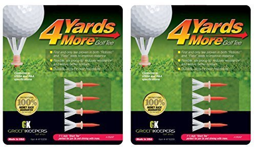 4 Yards More Golf Tees - Red 1 3/4'' Short Tee (2 Count)
