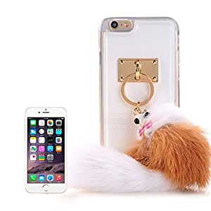 PU Paste Skin TPU Protective Case with Fox Pendant for iPhone 6 Plus & 6s Plus (White)