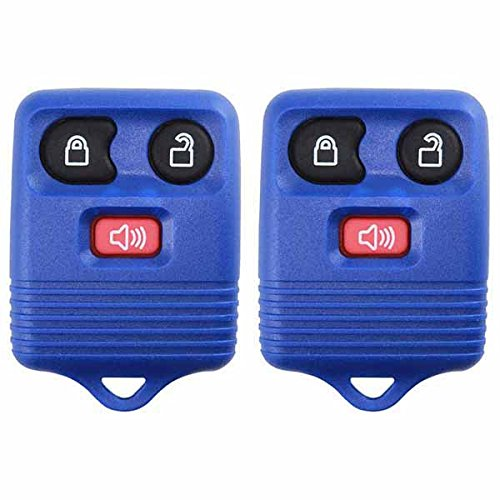 2 KeylessOption Blue Replacement 3 Button Keyless Entry Remote Control Key Fob Clicker ()