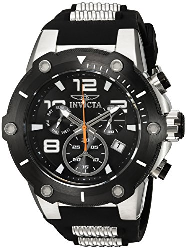 Invicta Speedway Swiss Chrono Watch - Invicta Men's 'Speedway' Swiss Quartz Stainless Steel and Polyurethane Casual Watch, Color:Black (Model: 19526)
