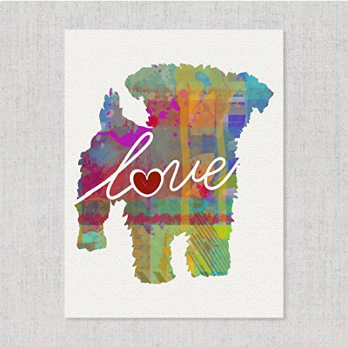 - Yorkiepoo (Yorkshire Terrier/Poodle) Love - Watercolor-Style Print/Poster on Fine Art Paper - Can Be Personalized