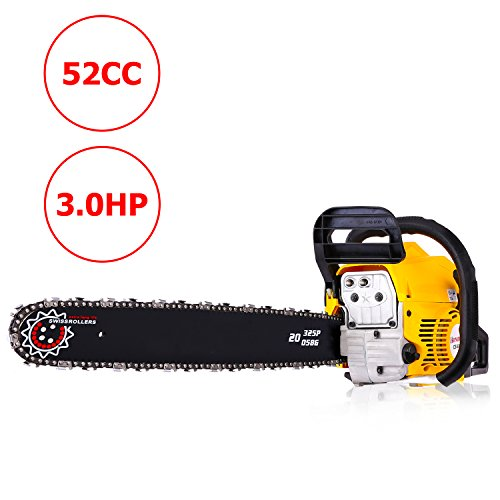 Meditool 20″ 52CC 3.0 HP Gas Powered Chain Saw 2 Stroke Handed Petrol Chainsaw with Smart Start Super Air Filter System and Automatic Oiling and Tool Kit Review
