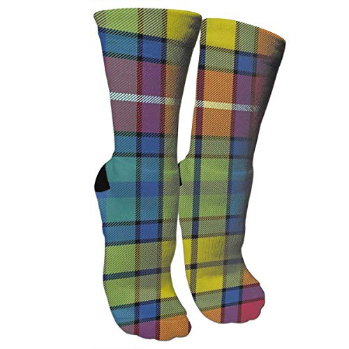 KUGUANG Buchanan Ancient Tartan Crazy Socks 3D Crew Socks