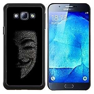 EJOOY---Cubierta de la caja de protección para la piel dura ** Samsung Galaxy A8 A8000 ** --Máscara Anonymous Hacker Código Tech Robot