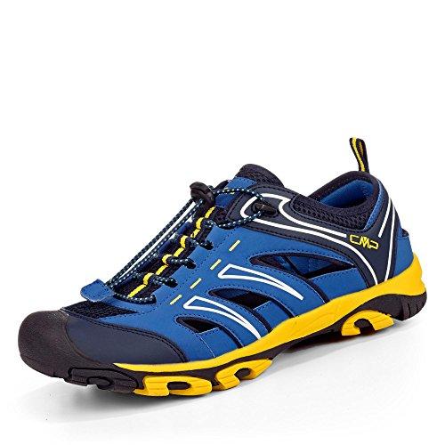 CMP - Zapatillas de senderismo de Material Sintético para hombre gris azul y amarillo ManSaZ