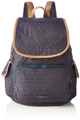 Geo Woven Kipling Handbag City Blue Backpack Pack Blue Womens 4wYwBqg8