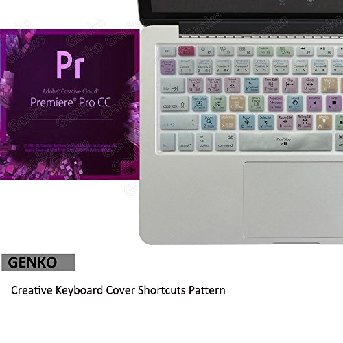 Adobe Shortcut Keyboard , Premiere Pro CC Hot Keys Silicone Mac Keyboard Skin For Macbook Air 13 & Macbook Pro 13 15 17, Retina (US / European ISO Keyboard) (EU/US Both)