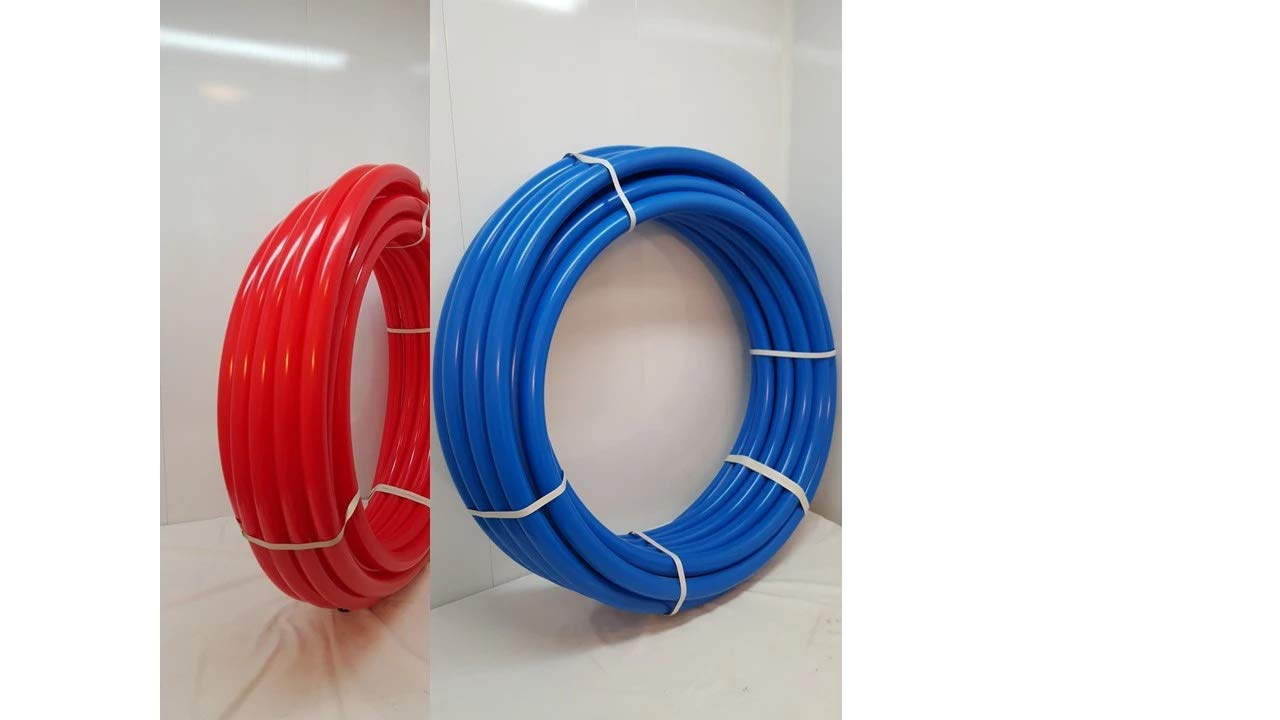 1''- 200'-100' Blue & 100' RED Certified Non-Barrier PEX for Heating/Plumbing by Badger Insulated Pipe