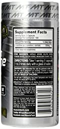 MuscleTech Platinum 100% Carnitine Formula, 500 mg Pure L-Carnitine, 180 Capsules