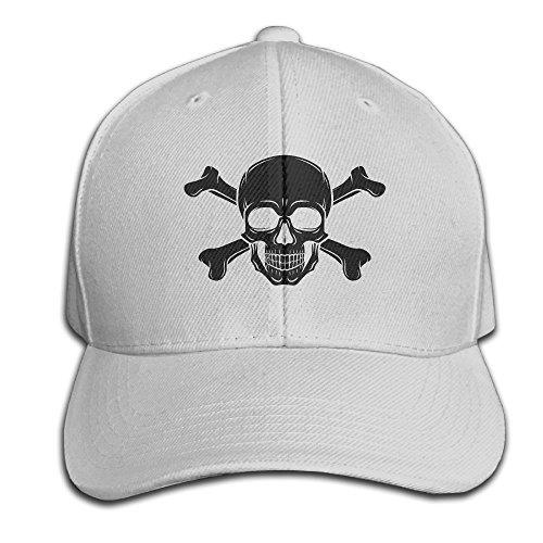 [Pirate Skull Baseball Cap Unisex Hip Hop Snapback Flat Brim Hat Cute Adjustable Cool Plain Trucker Hats For Dance,Neo-Jazz,Street Jazz,Reggea] (Pirate Tooth Cap With Skull)