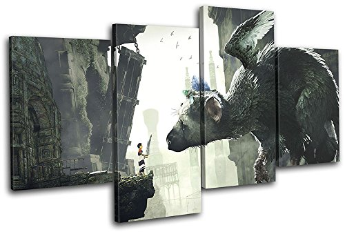 Bold Bloc Design - The Last Guardian PS4 Playstation Gaming 120x68cm MULTI Canvas Art Print Box Framed Picture Wall Hanging - Hand Made In The UK - Framed And Ready To Hang by Bold Bloc Design