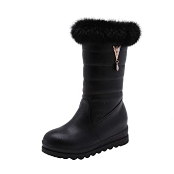 e3d3b5c082 Amazon.com: Hy 2018 Winter New Women's Snow Boots Boots Winter ...