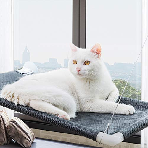 STARROAD-TIM Cat Window Perch Cat Hammock Window Sill Cat Perch with Removable Suction Cups Cat Bed Sunny Seat All Around 360° Sunbath for Cats Weighted up to 50lb