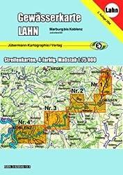Gewässerkarte Lahn: Kanu- und Ruderwanderkarte. 1:75000