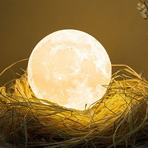 16 opinioni per 3D Lampada luna LED Moon Lampada, luce lunare notturna a LED, lampada da tavolo,