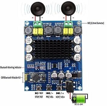 Amplificador de potencia digital Bluetooth Amp Ampli junta, doble canal Yeeco 120W+120W AMPLIFICADOR