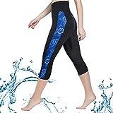 CtriLady High Waist Women Neoprene Wetsuit Pants 2.5mm UV Sun Protective Leggings Diving SnorkelingSurf Swimming Water Sports Tights