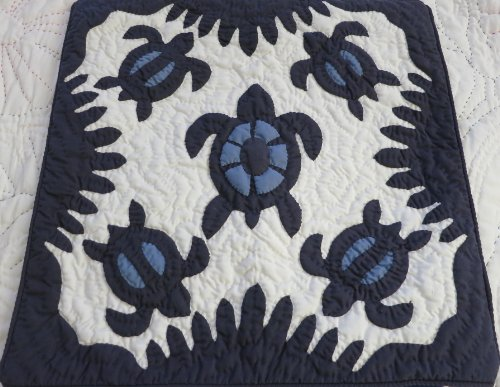 2 Hawaiian Quilt Pillow Covers, Cushion Cover, 100% Hand Quilted/hand Appliqued 16