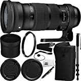 Sigma 120-300mm f/2.8 DG OS HSM Lens for Canon Bundle Includes Manufacturer Accessories + 72 inch Monopod with Quick Release + UV Filter + Lens Pen + Cap Keeper + Microfiber Cleaning Cloth