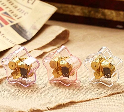 TOUYOUIOPNG Home Decorative Collectibles, Simple Acrylic Pentagram Music Box For Gift Home Decoration-Light Purple,Spirited Away