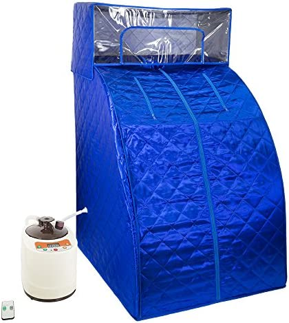 WYZworks Blue Portable Therapeutic Personal Steam Sauna Spa Room 2L Water Capacity