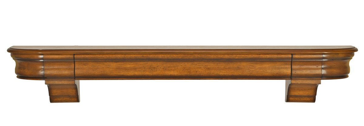 Pearl Mantels 415-60-50 Abingdon Wood 60-Inch Fireplace Mantel Shelf, Medium Distressed Oak