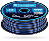 InstallGear 12 Gauge Speaker Wire (100-feet - Blue/Black)