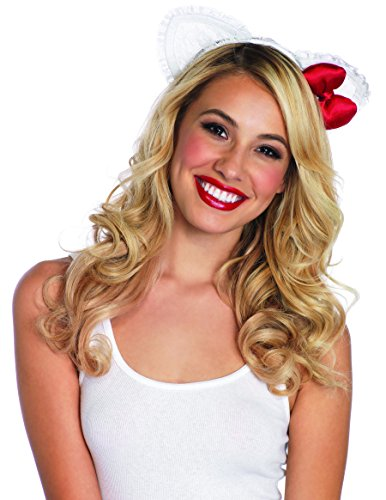 Leg Avenue Lace Hello Kitty Ear Headband With Plush Satin Bow