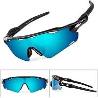 Batfox Gafas De Sol Deportivas Polarizadas con Lentes Intercambiables,Tr90 Marco Irrompible para Pesca Ski Conducción Golf Salir A Correr Ciclismo Acampada,100% De ProteccióN UV
