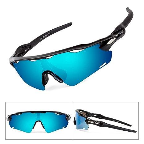 BATFOX Gafas de Sol, Gafas de Sol Deportivas Polarizadas,UV 400 Protección Gafas Deportivas, para Ciclismo,Deportes,Unisexo (Gris y Blanco)