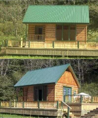 Easy Cabin Designs 16x24 Cabin Plan Package, Blueprints, Material List,  Complete Instruction Guide