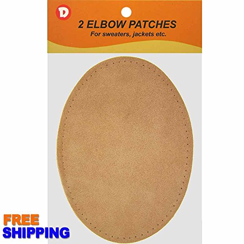 LoveinDIY Pair Sew-On Fabric Oval Elbow Knee Patches Sweater Trousers Repair Craft Supply Black