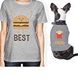 365 Printing Hamburger And Fries Small Pet Owner Matching Gift Outfits For Her (ONWER - L/PET - L)