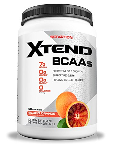 Scivation Xtend BCAA Powder, Branched Chain Amino Acids, BCAAs, Blood Orange, 90 (10 Ounce Green Apple)