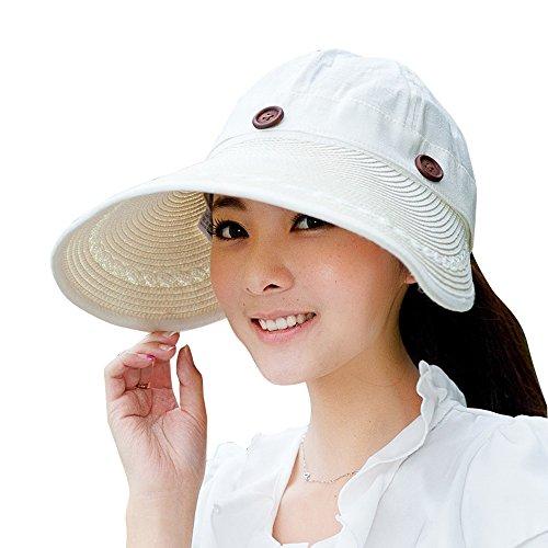 Kaisifei Women s Visor Hat With Big Brim - handbagshaven.com ... 697b2a229eb
