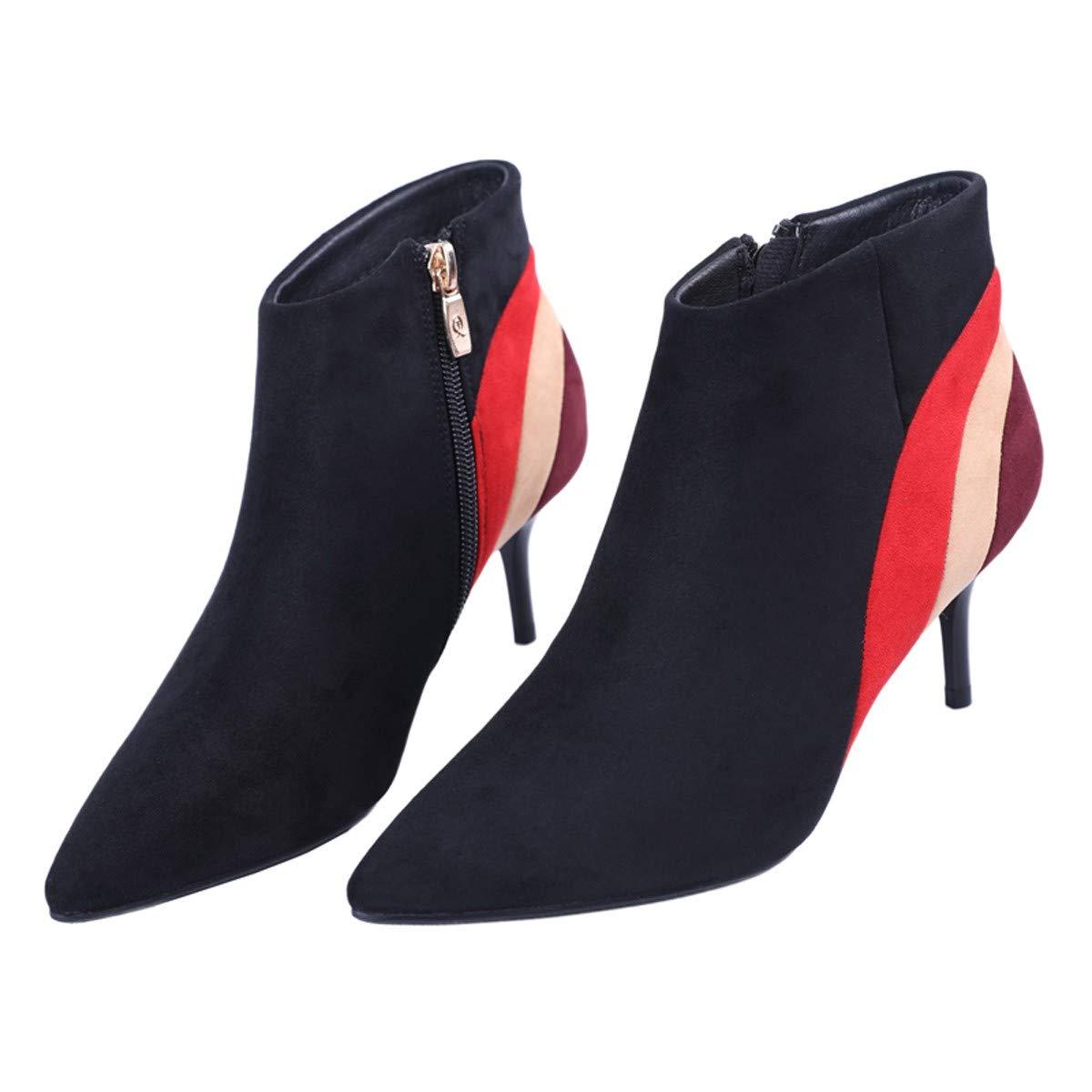 LBTSQ-Kurze Stiefel Mode Farbe Dünn Dünner Stiefel 6CmSpitze Hochhackigen Ma Ma Ma Dingxue. b4ecfa