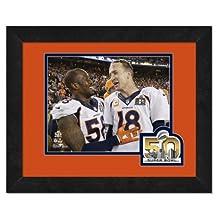 """Peyton Manning & Von Miller Denver Broncos Super Bowl 50 Photo (Size: 13"""" x 16"""") Framed"""