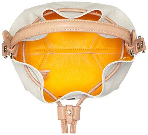 Trussardi 75bp0553, Borsa a secchiello Donna 25x33x14 cm (W x H x L) Multicolore (Burro/Yellow)