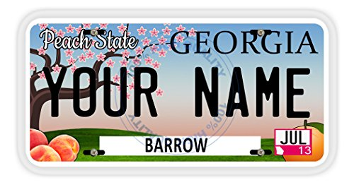 BleuReign(TM) Personalized Custom Name 2016 Georgia State Car Vehicle License Plate Auto Tag (ALL STATES AVAILABLE) ()