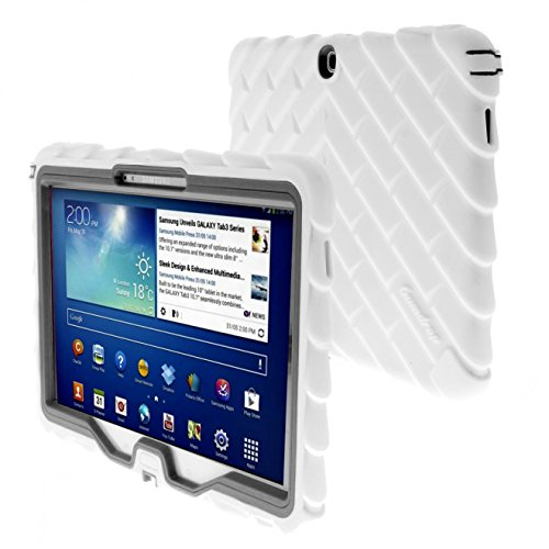 ch for Samsung Galaxy Tab 3 10.1 GT-P5210 Rugged Tablet Case Shock Absorbing Cover, White/Gray ()