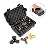 Wiitin Fidget Spinner Collection Box, Hard Plastic Matte Finish Compact Storage Case to Organize up to 10 Hand Spinners, Black (Case Only, Fidget Spinners not Included)