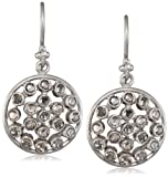 Lauren Harper Collection Milky Way 18k White Gold and Rose Cut Diamond Round Earrings
